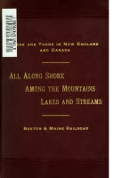 Boston and Maine – All Along Shore Among the Mountains, Lakes and Streams
