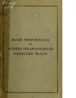 Brake performance on Modern Steam Locomotive Passenger Trains