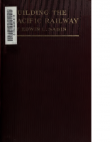 Building the Pacific Railway – Edwin L Sabin