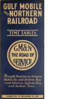 Gulf Mobile and Northern Raileroad – 1928 Timetables