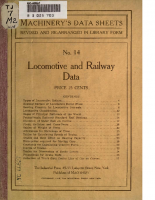 Locomotive and Railway Data – 14