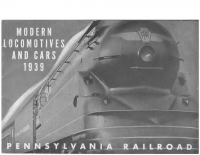 Pennsylvania Railroad – Modern Locomotives and Cars – 1939