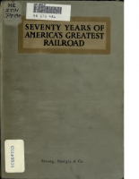 Pennsylvania Railroad – Seventy Years of Americas Greatest Railroad 1846-1916