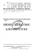 War Department Techical Manual – Operation of Railroads – Diesel Electric Locomotives