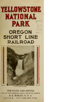 Yellowstone National Park – Oregon Short Line Railroad